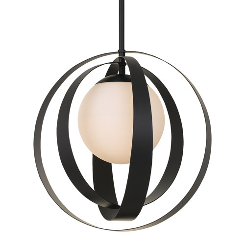 Crystorama Lighting Group Arlo One-Light Matte Black Chandelier
