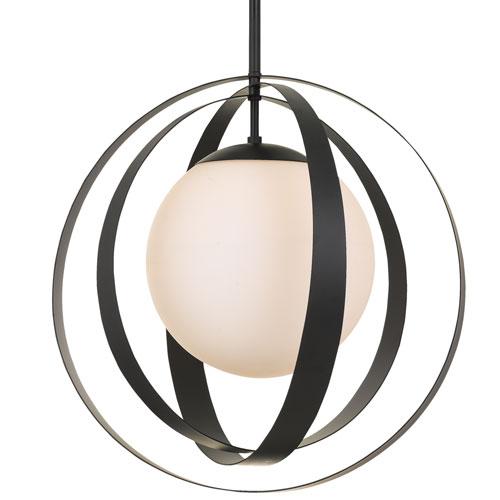Crystorama Lighting Group Arlo One-Light Matte Black Chandelier