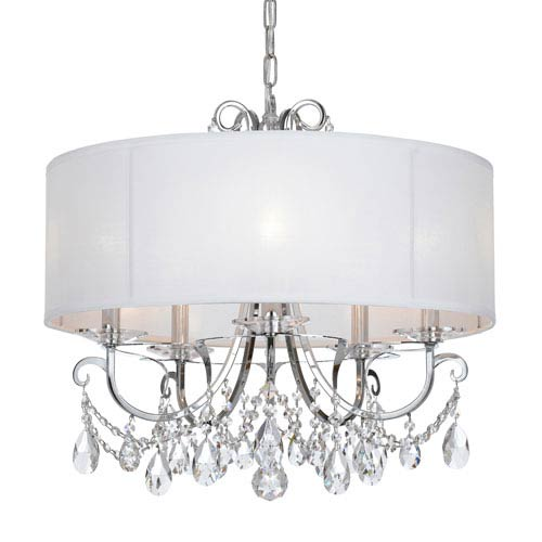 Crystorama Lighting Group Othello Polished Chrome Five Light Chandelier with Clear Spectra Crystal