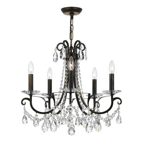 z lite willow olde bronze five light chandelier 426 5 ob