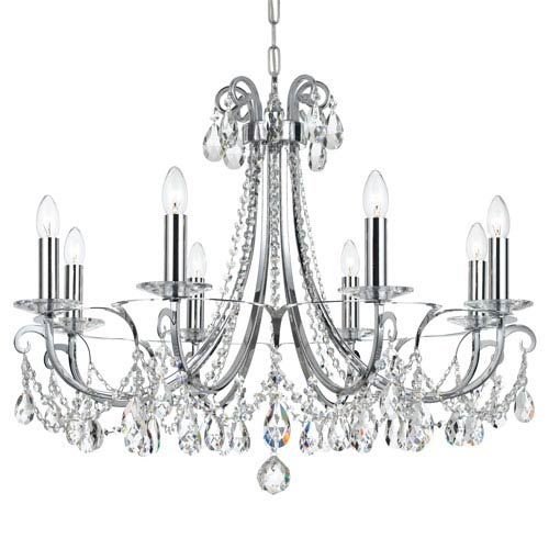 Crystorama Lighting Group Othello Polished Chrome Eight Light Chandelier with Clear Spectra Crystal