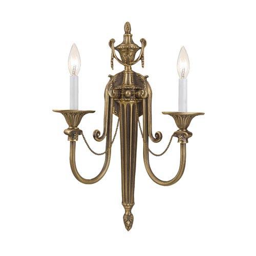 Crystorama Lighting Group Cortland Roman Bronze Two-Light Sconce