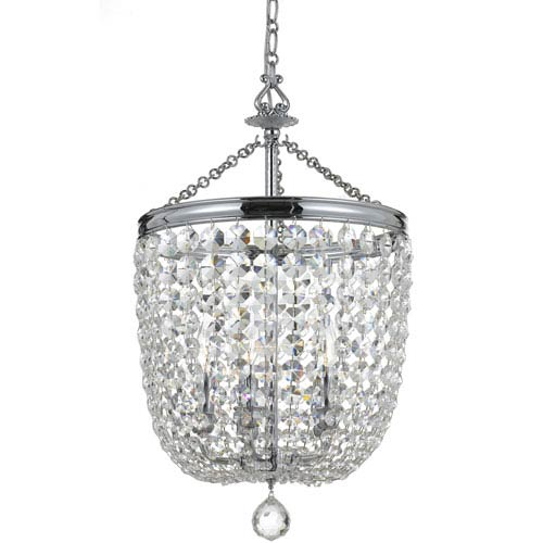 Archer Polished Chrome Five Light Chandelier with Clear Spectra Crystal