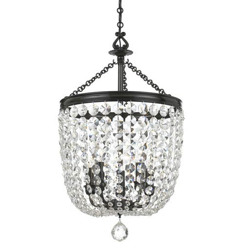 Archer Vibrant Bronze Five Light Chandelier with Clear Hand Cut Crystal