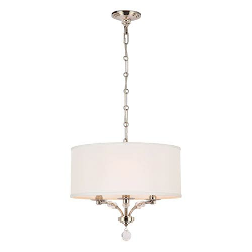 Crystorama Lighting Group Mirage Polished Nickel Three Light Pendant