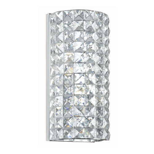 Chelsea Polished Chrome Two-Light Crystal Sconce