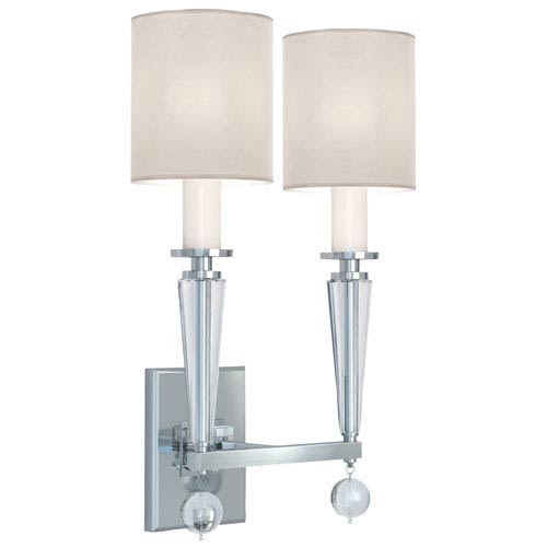Crystorama Lighting Group Paxton Polished Nickel Two Light Wall Sconce