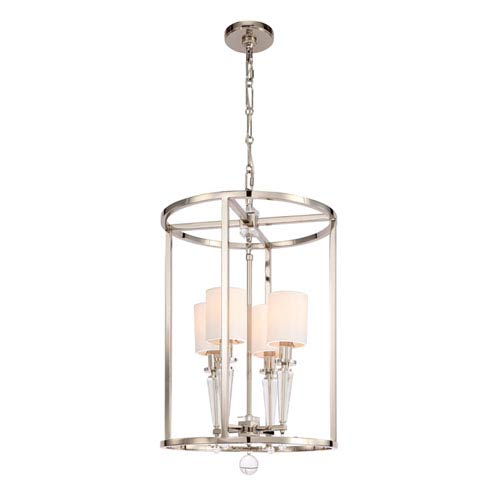Crystorama Lighting Group Paxton Polished Nickel Four Light Pendant