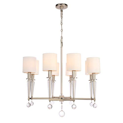 Crystorama Lighting Group Paxton Polished Nickel Eight Light Chandelier