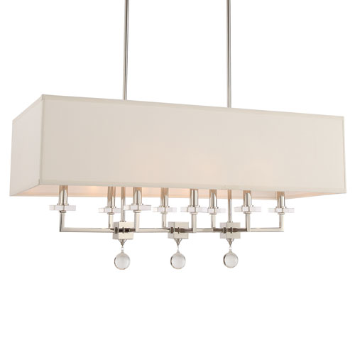Crystorama Lighting Group Paxton Eight-Light Polished Nickel Chandelier