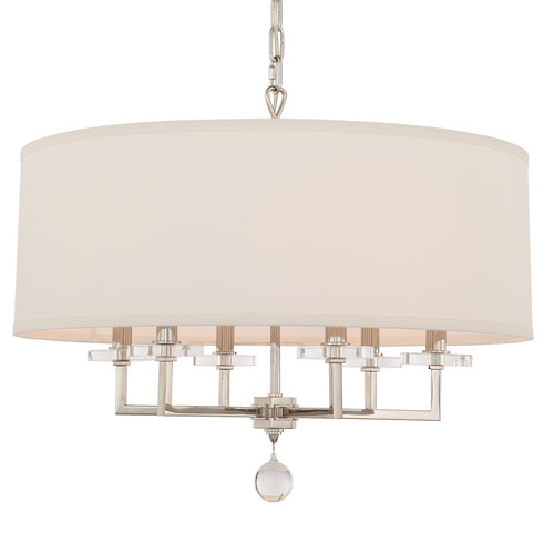 Paxton Six-Light Polished Nickel Chandelier