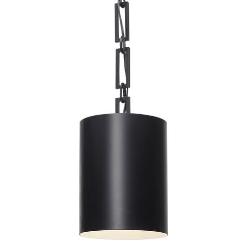 Alston One-Light Matte Black Mini Chandelier