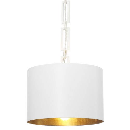 Crystorama Lighting Group Alston Matte White and Antique Gold One Light Pendant