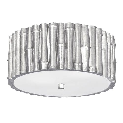 Masefield Antique Silver Two-Light Flush Mount by Libby Langdon