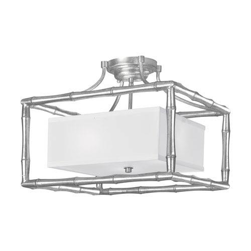 Crystorama Lighting Group Masefield Antique Silver Three-Light Semi-Flush by Libby Langdon