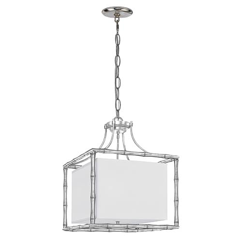 Crystorama Lighting Group Masefield Antique Silver 19-Inch Wide Four-Light Pendant by Libby Langdon