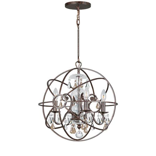 Crystorama Lighting Group Solaris Four-Light English Bronze Chandelier