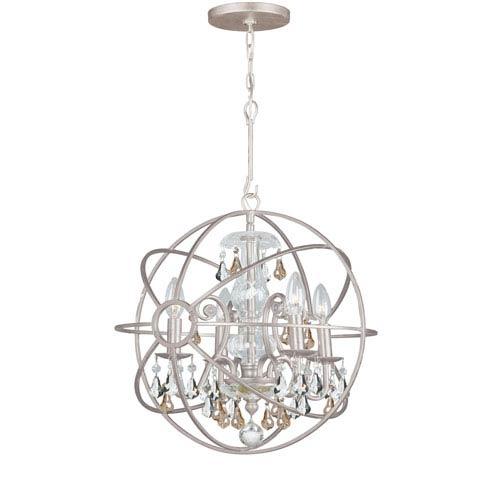 Crystorama Lighting Group Solaris Four-Light Olde Silver Chandelier