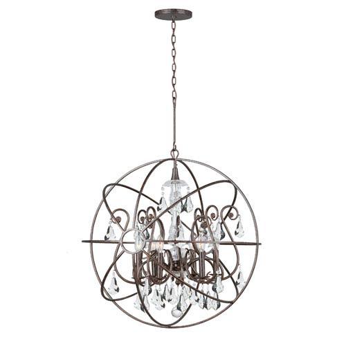 Crystorama Lighting Group Solaris Six-Light English Bronze Chandelier