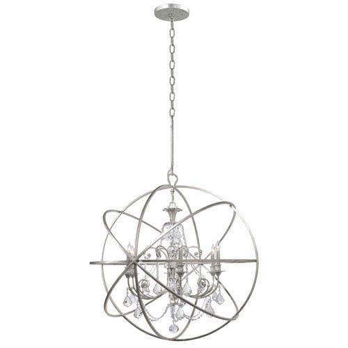 Crystorama Lighting Group Solaris Six-Light Olde Silver Chandelier