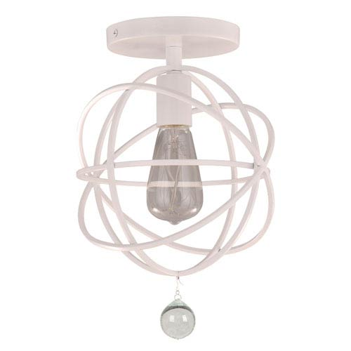 Crystorama Lighting Group Solaris Wet White One-Light Ceiling Mount