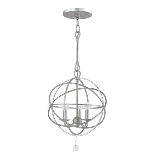 Solaris Olde Silver Three-Light Chandelier