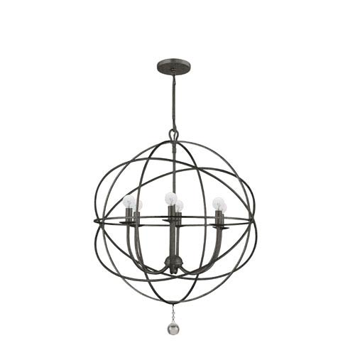Solaris English Bronze Six-Light Chandelier