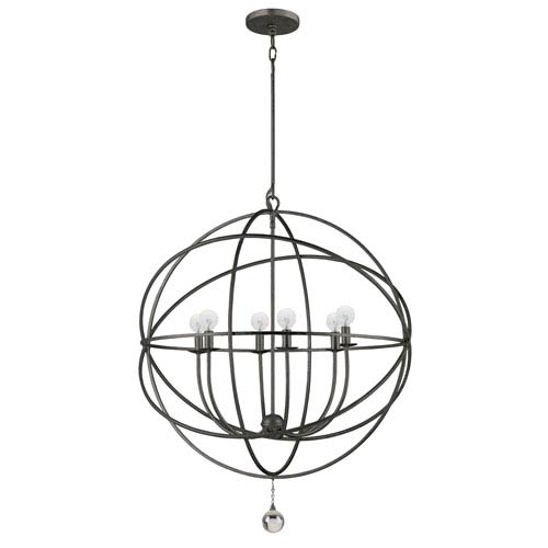 Crystorama Lighting Group Solaris English Bronze Six-Light Pendant