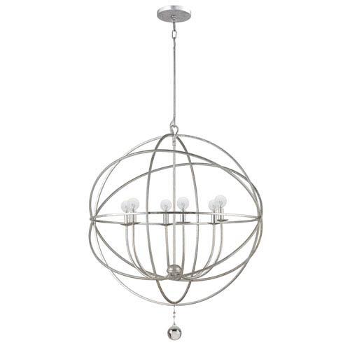 Crystorama Lighting Group Solaris Olde Silver Six-Light Chandelier