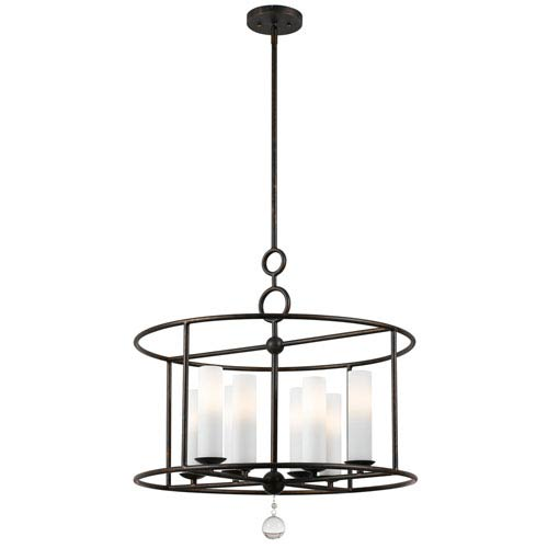 Crystorama Lighting Group Cameron English Bronze Eight-Light Pendant