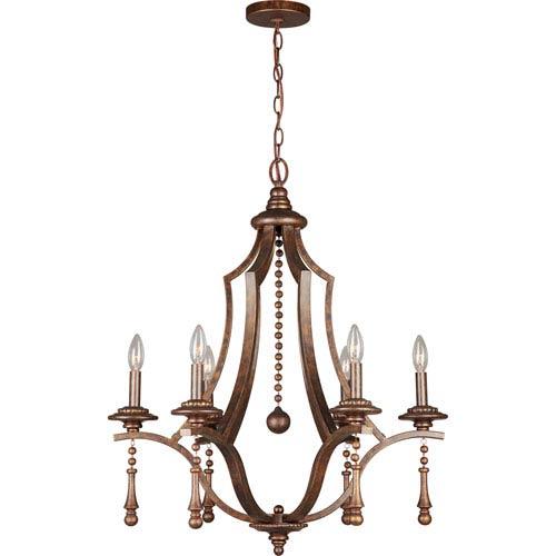 Crystorama Lighting Group Parson English Bronze Six-Light Chandeliers