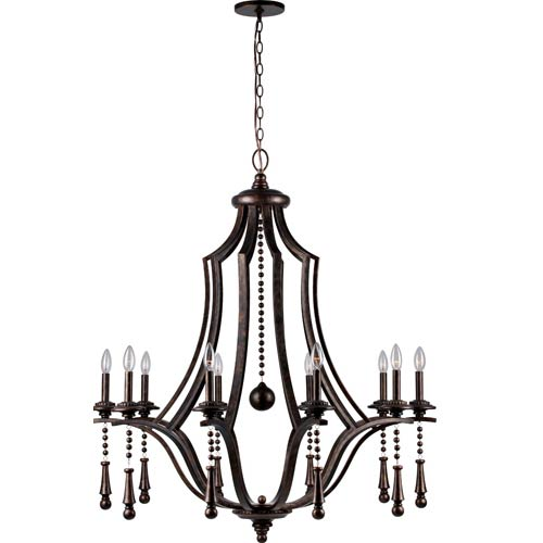 Crystorama Lighting Group Parson English Bronze 10-Light Chandelier