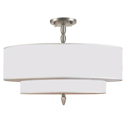 Crystorama Lighting Group Luxo Satin Nickel Five Light Semi-Flush