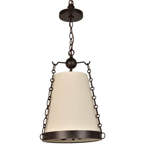 Crystorama Lighting Group Ellis Charcoal Bronze Three Light Pendant