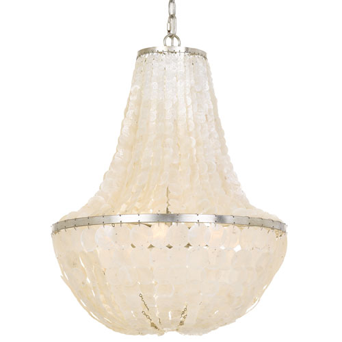 Crystorama Lighting Group Brielle Six Light Antique Silver Chandelier