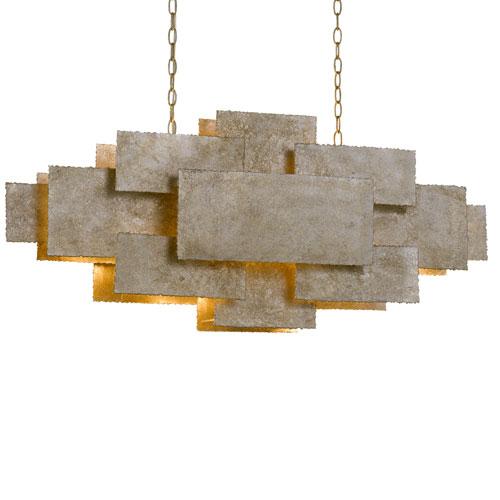 Bronson Four-Light Oxidized Silver Chandelier