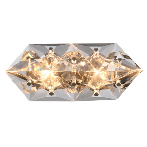 Crystorama Lighting Group Collins Two-Light Polished Chrome Wall Sconce