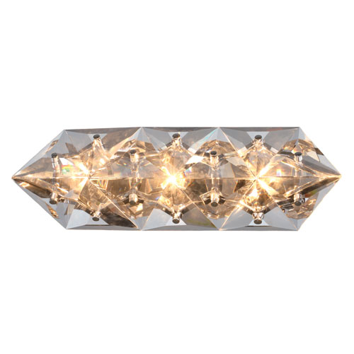 Collins Three-Light Polished Chrome Bath Light