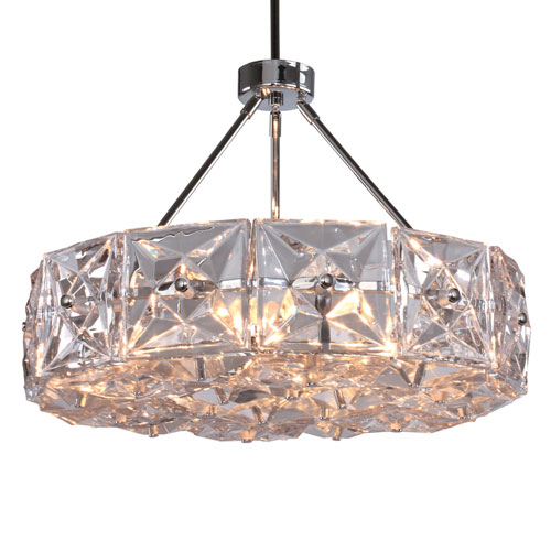 Crystorama Lighting Group Collins Six-Light Polished Chrome Chandelier