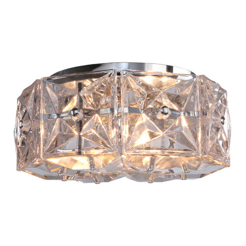 Crystorama Lighting Group Collins Four-Light Polished Chrome Ceiling Mount