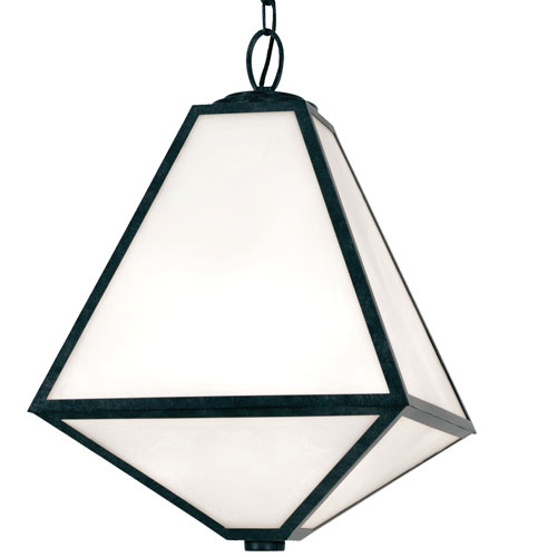 Glacier Three-Light Black Charcoal Outdoor Chandelier