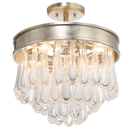 Crystorama Lighting Group Julien Four-Light Distressed Twilight Ceiling Mount