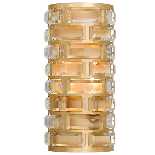 Crystorama Lighting Group Meridian Four-Light Antique Gold Wall Sconce