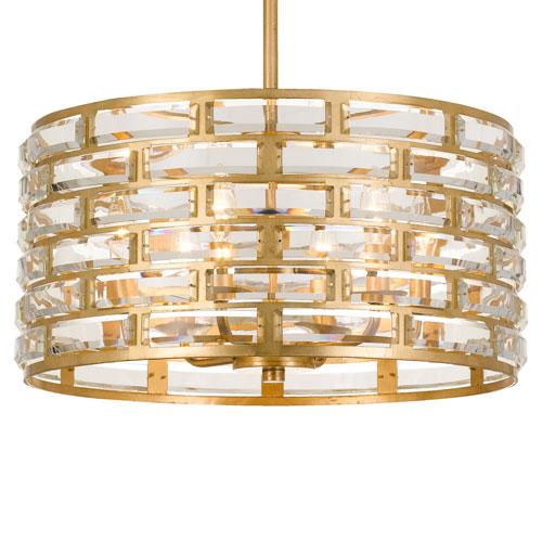 Crystorama Lighting Group Meridian Six-Light Antique Gold Chandelier