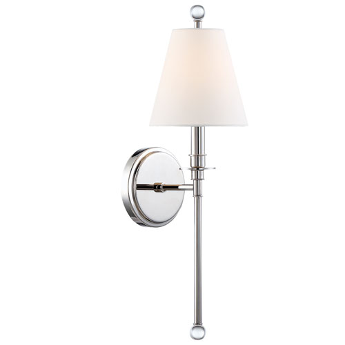 Crystorama Lighting Group Riverdale One-Light Polished Nickel Wall Sconce
