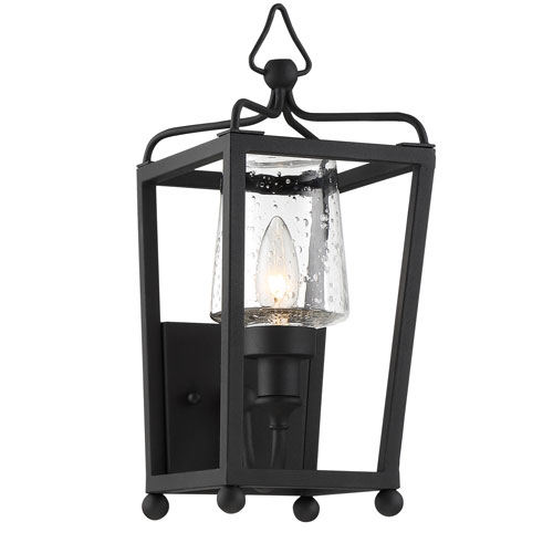 Crystorama Lighting Group Sylvan One-Light Black Forged Outdoor Wall Mount