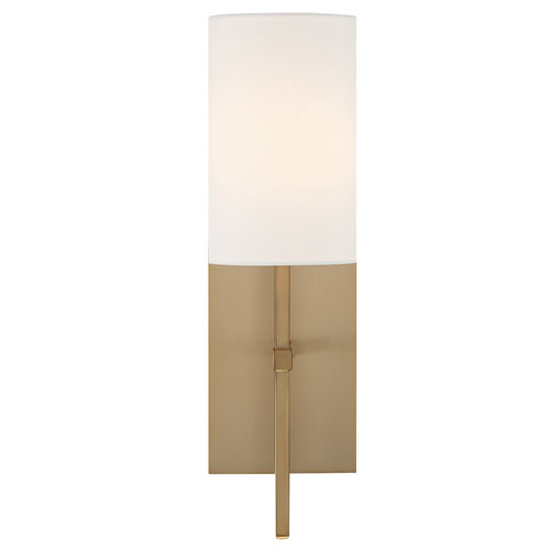 Crystorama Lighting Group Veronica One-Light Aged Brass Wall Sconce