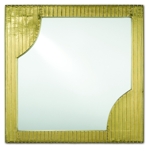 Morneau Brass Square 24-Inch Mirror