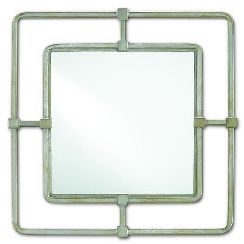Metro Silver 23-Inch Square Mirror