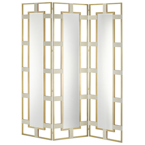 Camille Cream and Brushed Brass Screen